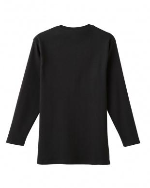 ブラック 9分袖シャツ見る