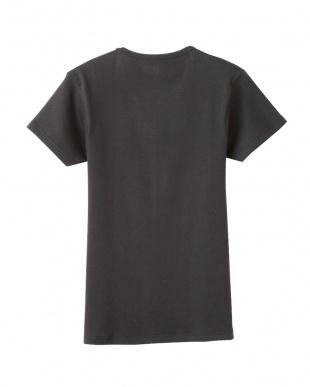 チャコールグレー VネックTシャツ見る