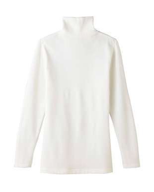 オフホワイト  ハイネック長袖Tシャツ|WOMEN見る