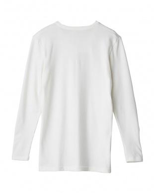 オフホワイト Vネックロングスリーブシャツ|MEN見る