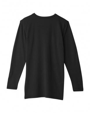 ブラック Vネックロングスリーブシャツ|MEN見る