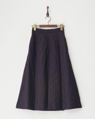 パープル  キルティングスカート見る