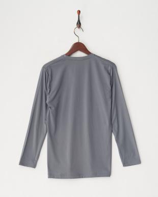 チャコールグレー 瞬暖Vネック長袖シャツ見る