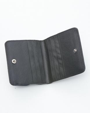 アイリッシュブルー  クロコダイル&牛革クロコ型押しコンパクト財布見る