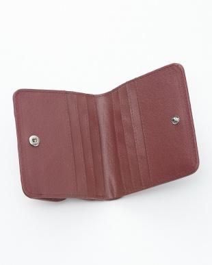 ルビー  クロコダイル&牛革クロコ型押しコンパクト財布見る