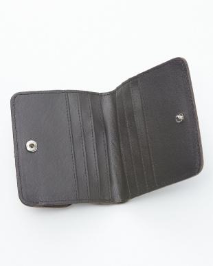 トープ  クロコダイル&牛革クロコ型押しコンパクト財布見る