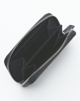 ブラック  クロコダイル&牛革クロコ型押しコインケース見る