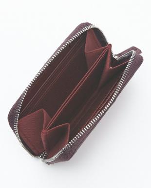 チェリーブラック  クロコダイル&牛革クロコ型押しコインケース見る