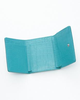 ライトペットロール クロコダイル&牛革クロコ型押しコンパクト財布見る