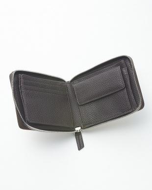 VANILLA  クロコダイルパッチワークラウンドファスナー折り財布見る
