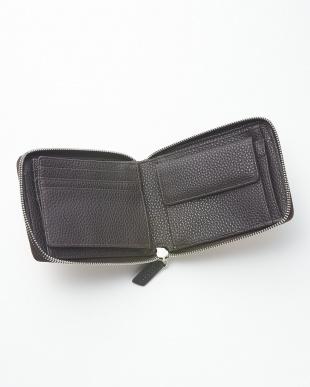 SEPIA  クロコダイルパッチワークラウンドファスナー折り財布見る