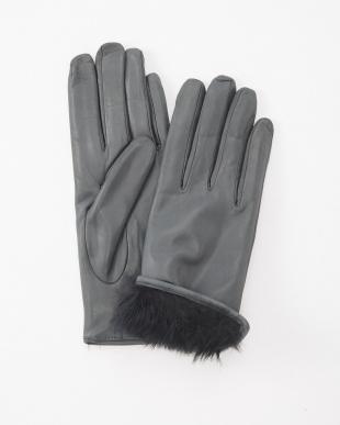 Lグレ  革手袋見る