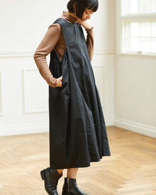 BLACK  サイドタック ジャンパースカート|WOMEN見る