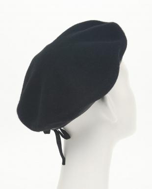 ブラック ウールフェルトベレー帽(オリジナルバッグ付)見る