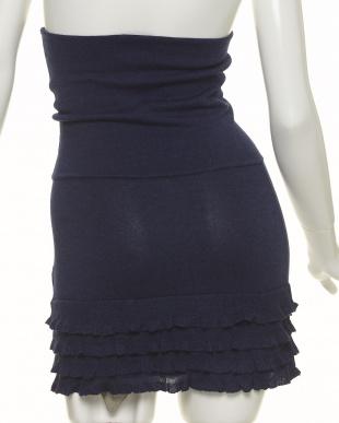 ネイビー フリルかわいい腹巻きスカート 冷え対策見る