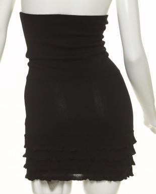 ブラック フリルかわいい腹巻きスカート 冷え対策見る