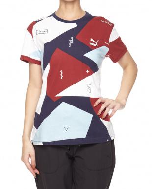 PUMA WHITE-CAMO MICRO  CLASSICS ロゴ SS Tシャツ AOP見る