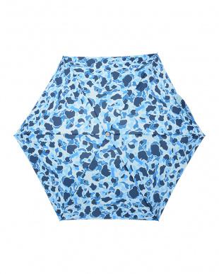 カモフラ(ブルー)  ミニ 手動開閉傘見る
