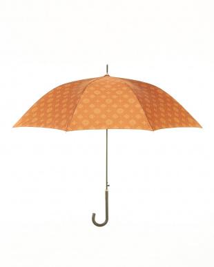 OR サテンプリント全面柄長傘見る