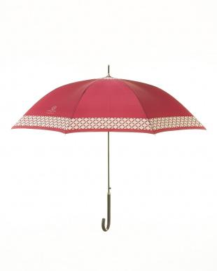 WN サテンプリント裾格子柄長傘を見る