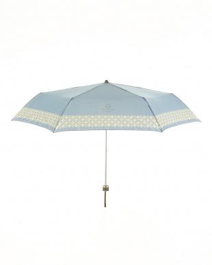 BU サテンプリント裾格子柄ミニ傘見る