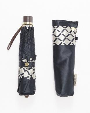 BK サテンプリント裾格子柄ミニ傘を見る
