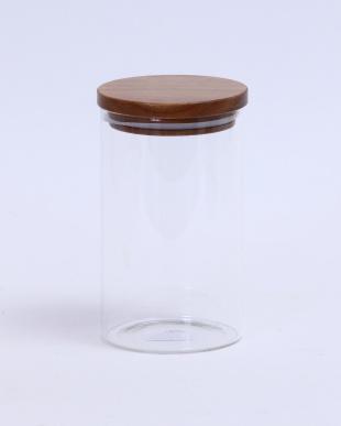 木蓋付ガラスキャニスター H17.5cm見る