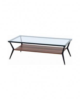 DBR ガラスリビングテーブル クレア 120幅見る