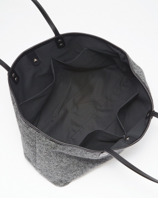 TWILL BLACK&WHITE TOTE BAG/L見る