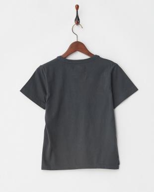 チャコールグレー ガーメントダイ布帛ポケットTシャツ見る