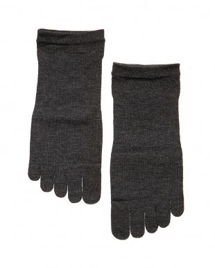 ブラック  eks 「発熱する」5本指くつした2足セット見る