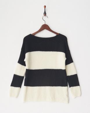 ブラックホワイト セーター見る