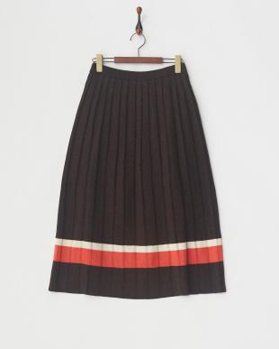 ブラウン ラメニットスカート見る