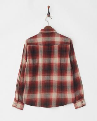 レッド オンブレーチェックネルシャツ L/Sを見る