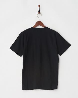 ブラック 梨地ポケットTシャツ見る