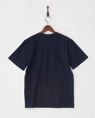 ネイビー 梨地ポケットTシャツ見る