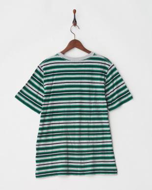 グリーン マルチボーダーTシャツ S/Sを見る