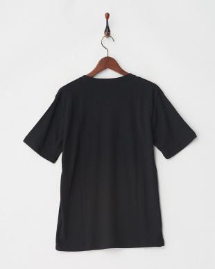 ブラック ジャガードサッカーストライプTシャツ見る
