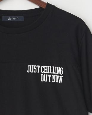 ブラック ジャガード切替Tシャツ S/Sを見る