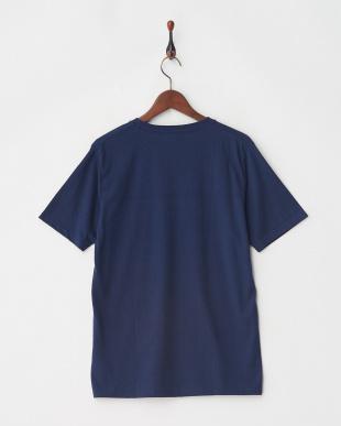 ネイビー ジャガード切替Tシャツ S/Sを見る