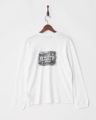 ホワイト CAUTION Tシャツ L/Sを見る
