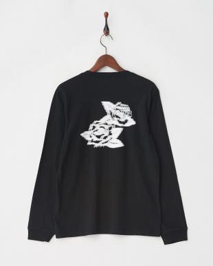 ブラック ROSE Tシャツ L/S見る