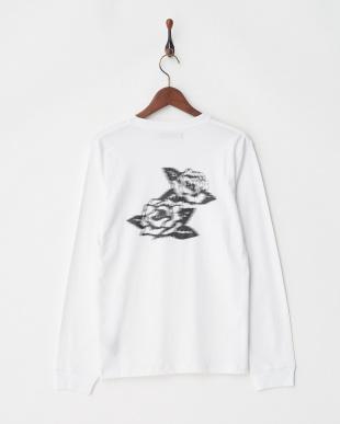 ホワイト ROSE Tシャツ L/Sを見る