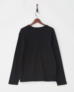 ブラック 10/-天竺ポケットTシャツ L/S見る