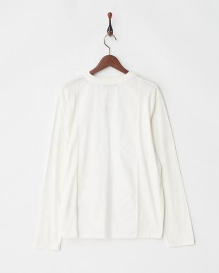ホワイト 布帛切替Tシャツ L/S見る
