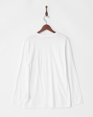 ホワイト デオポケットVネックTシャツ L/S見る