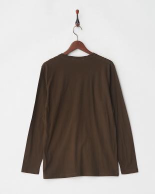 ブラウン デオポケットVネックTシャツ L/Sを見る