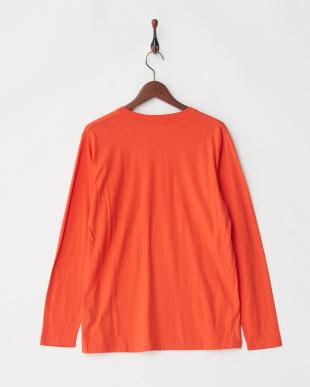 オレンジ デオポケットVネックTシャツ L/Sを見る