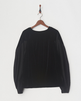 BLACK VELOUR DRAPY TOPを見る