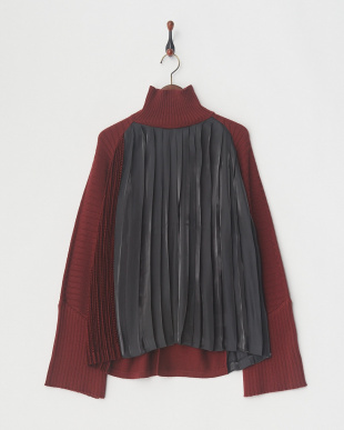 BURGUNDY PELATED SHIY KNIT JMPを見る